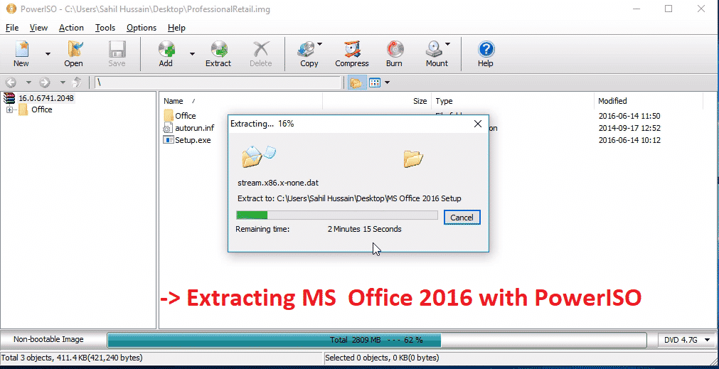 Microsoft Office 2016 Free Download PowerISO